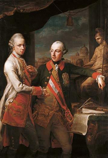 Double portrait of Emperor Joseph II and his brother Leopold, Grand Duke of Tuscany