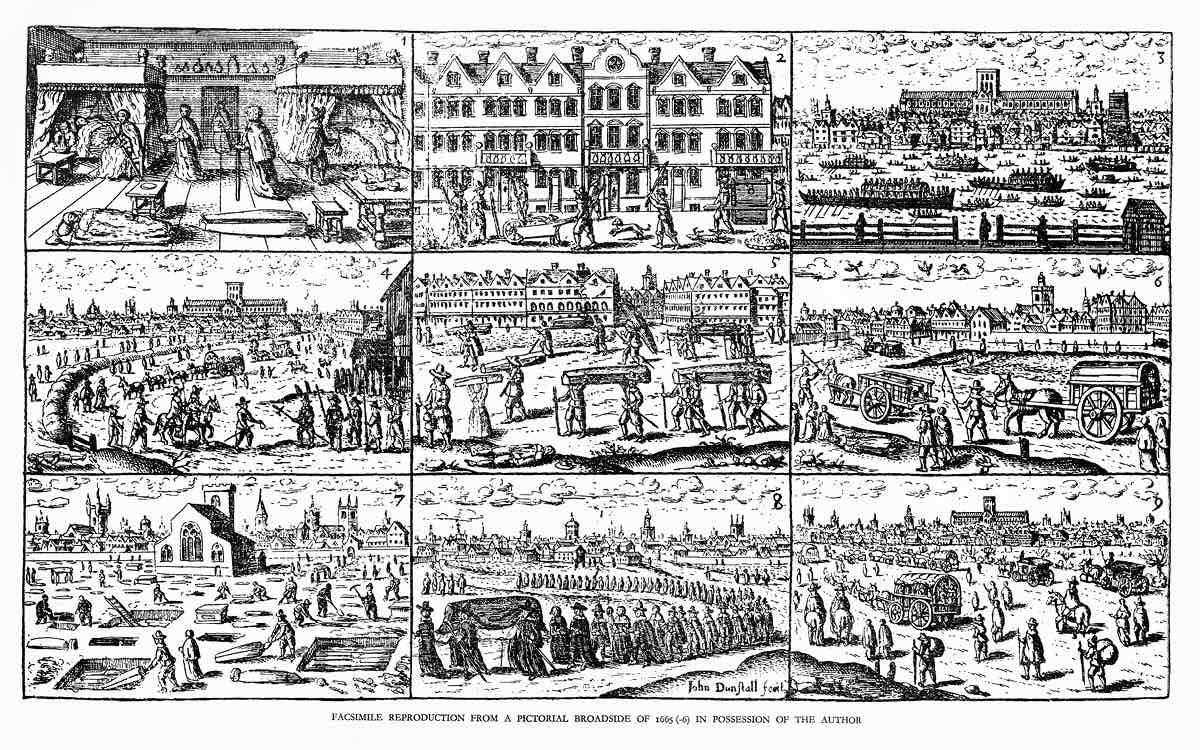 John Dunstall Nine Scenes Relating to the 1665 Plague