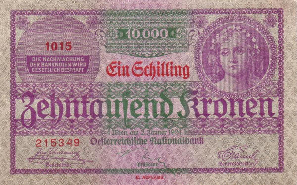 The former austrian currency